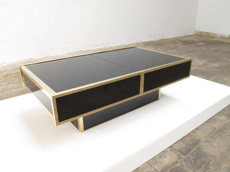 Superb  1975 Romeo Rega Table Glass Sliding Top With Internal Bar image 8