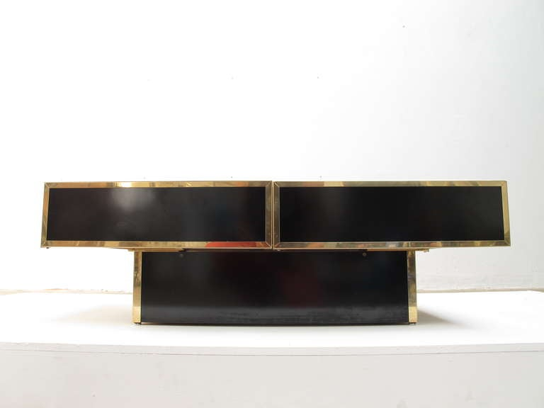 Superb  1975 Romeo Rega Table Glass Sliding Top With Internal Bar image 6