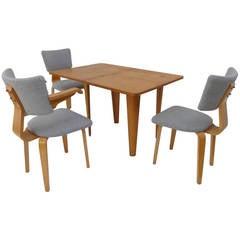 Rare Cor Alons Plywood Dining Set for Den Boer Gouda