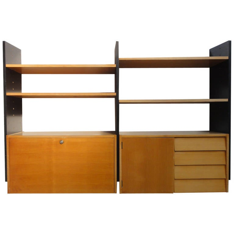 Scandinavian Mid Century Modern Modular Wall Mounted Desk Or Storage Unit For