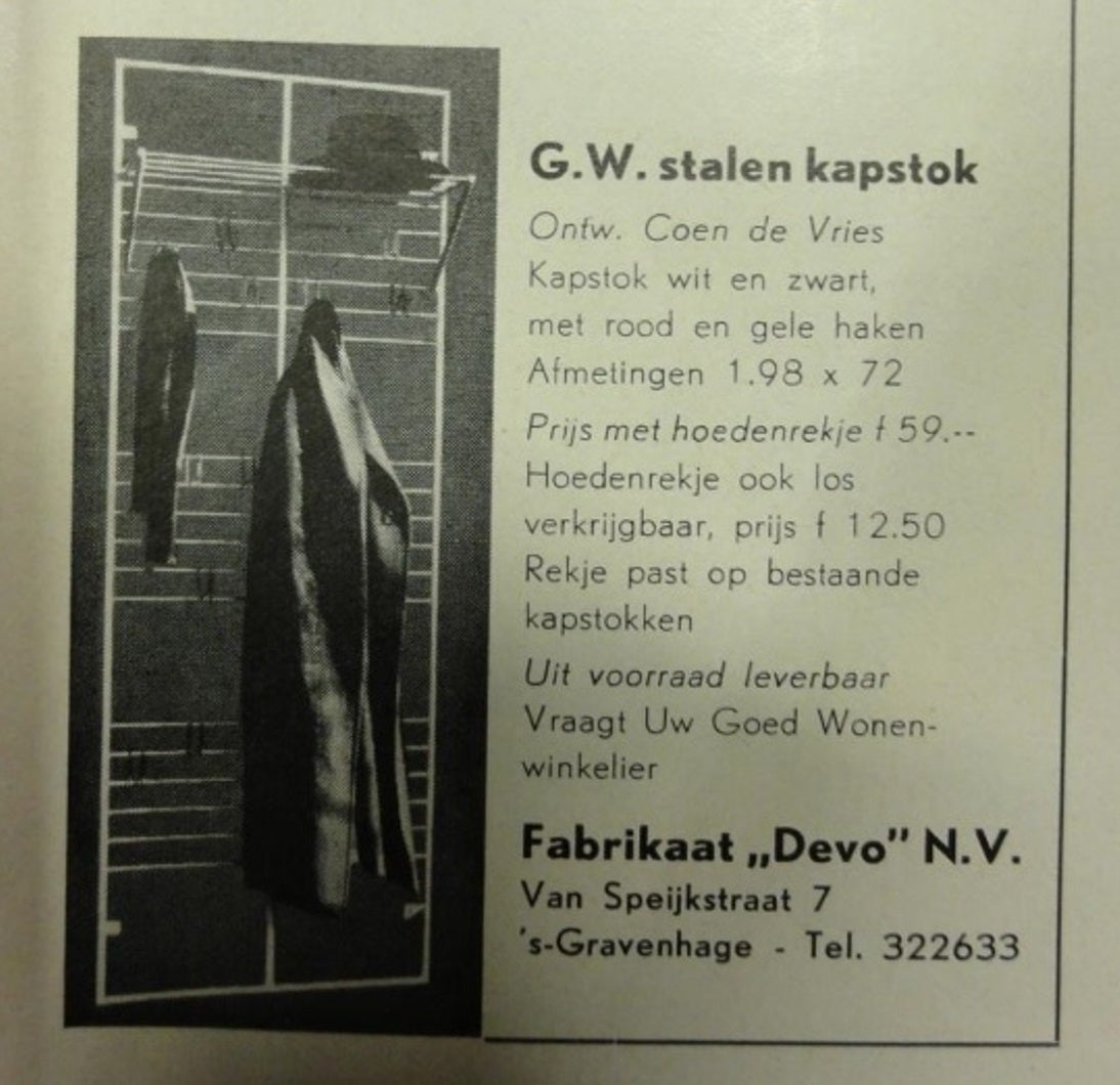 Note: This coatrack was exhibited at the  ''From the Guggenheim collection to the Cobra Museum Amstelveen'' exhibition until August 2014. More information check www.cobra-museum.nl  This is  the highly sought,  earliest production variant,  of