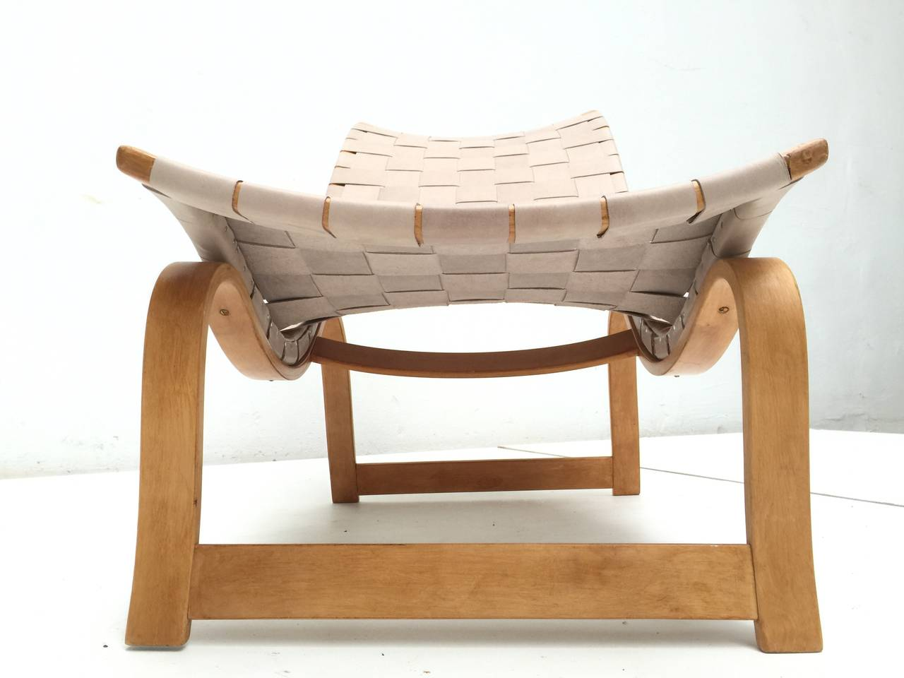 The Model 36 by Swedish Architect and Designer Bruno Mathsson is a fine example of the modernist vision of the Scandinavian designers  The easy chair was originally designed in 1933-1936 and presented in 1937 at the 'Exposition International' in