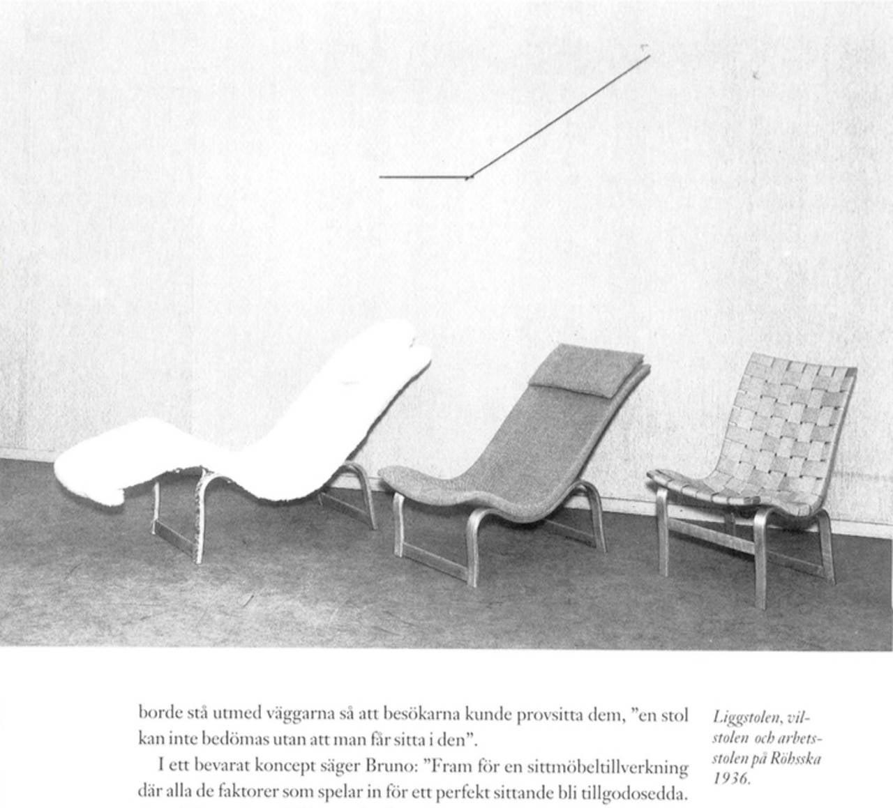 Swedish Rare Pre-War Edition Bruno Mathsson Model 36 Easy Chair Sweden 1933-1936
