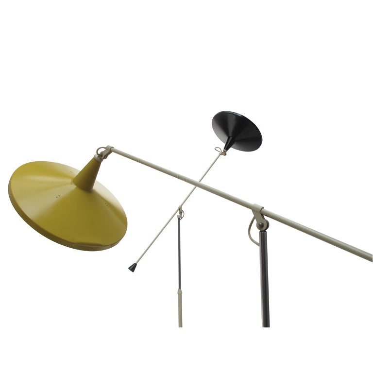 Hanging Lamp Gerrit Rietveld: Wim Rietveld Panama Floor Lamp For Gispen 1955 At 1stdibs