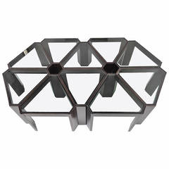 Amazing 1970s Geometric Modular Coffee Table or Display, Ten Pieces