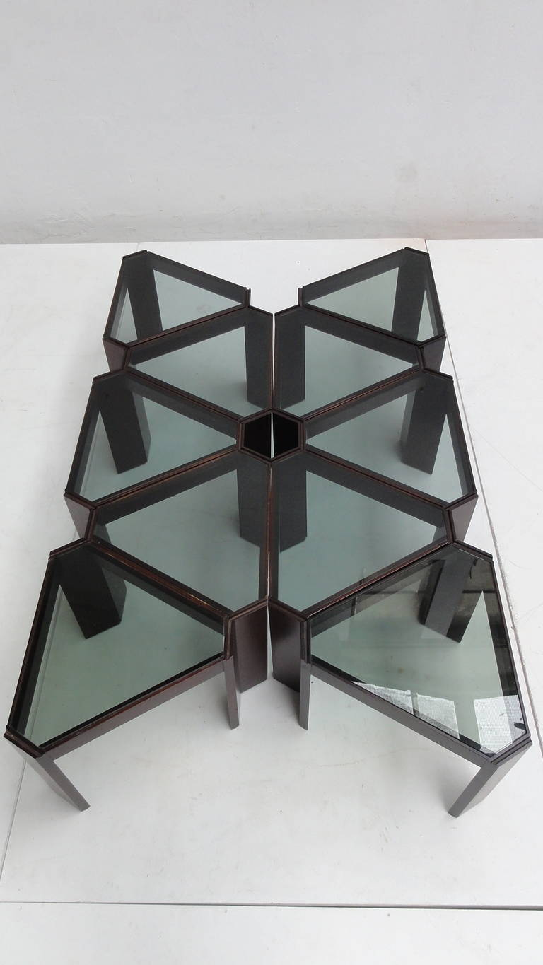 Amazing 1970s Geometric Modular Coffee Table Or Display