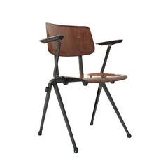 """14 Industrial """"Prouvésque"""" Compass-Leg Chairs by Galvanitas, The Netherlands"""
