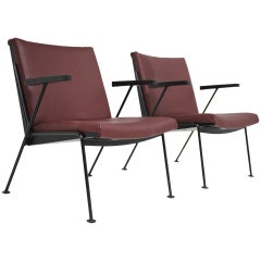 Leather Wim Rietveld ''Oase'' Chair for Ahrend de Cirkel 1959