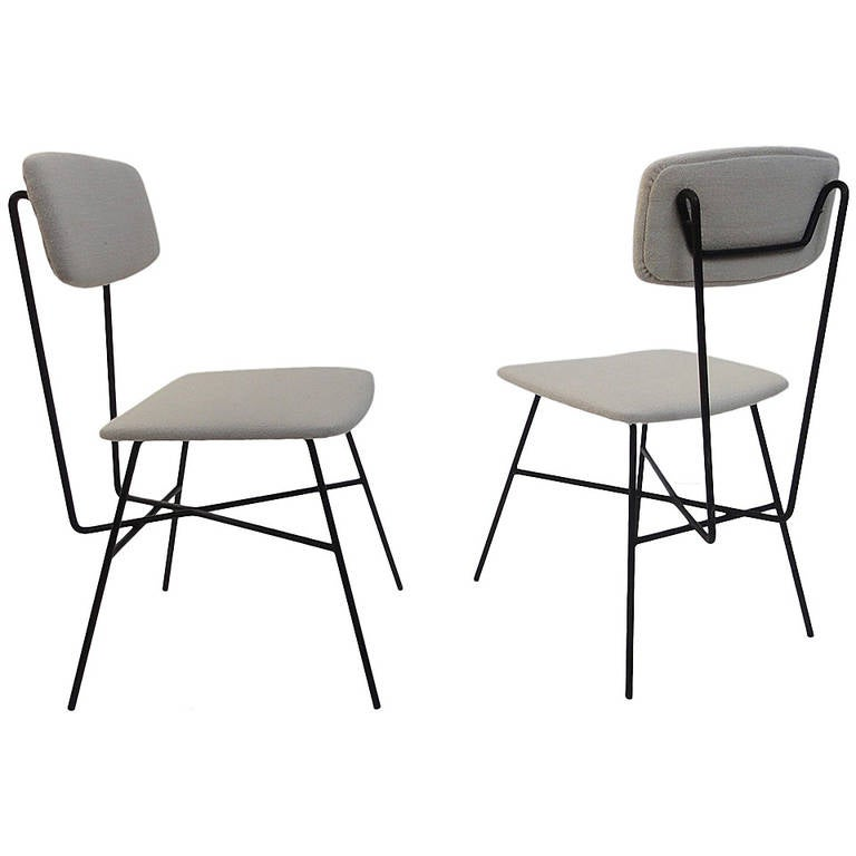 Beautiful sculptural form 1950s italian chairs,  style of BBPR or Augusto Bozzi