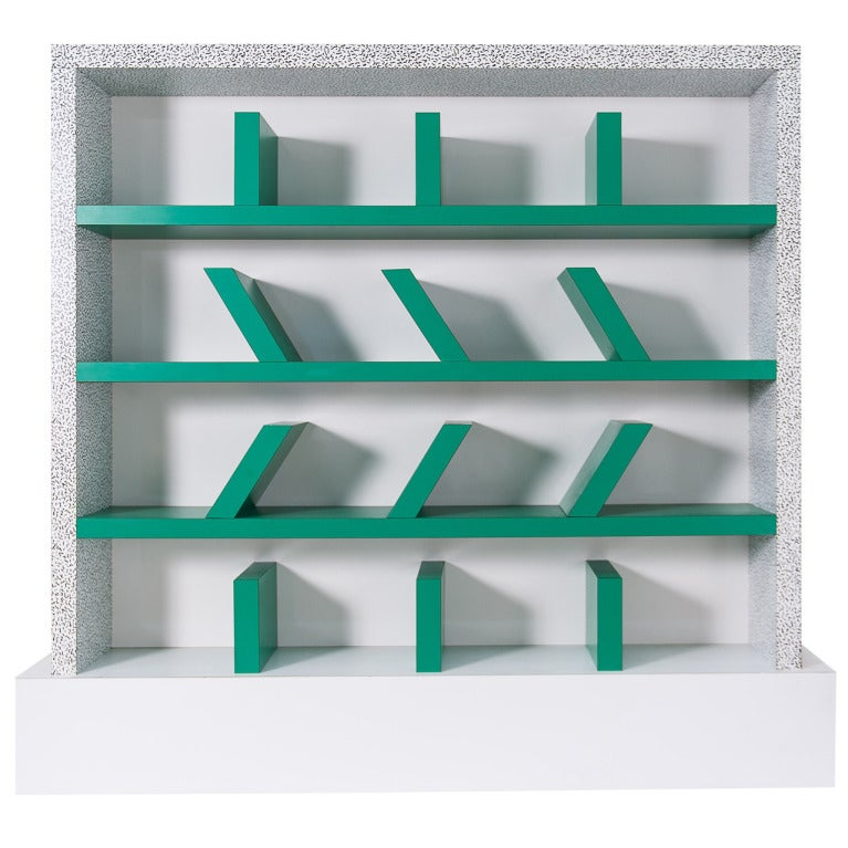 Early edition SURVETTA bookcase by Ettore Sottsass for Memphis,1981 1