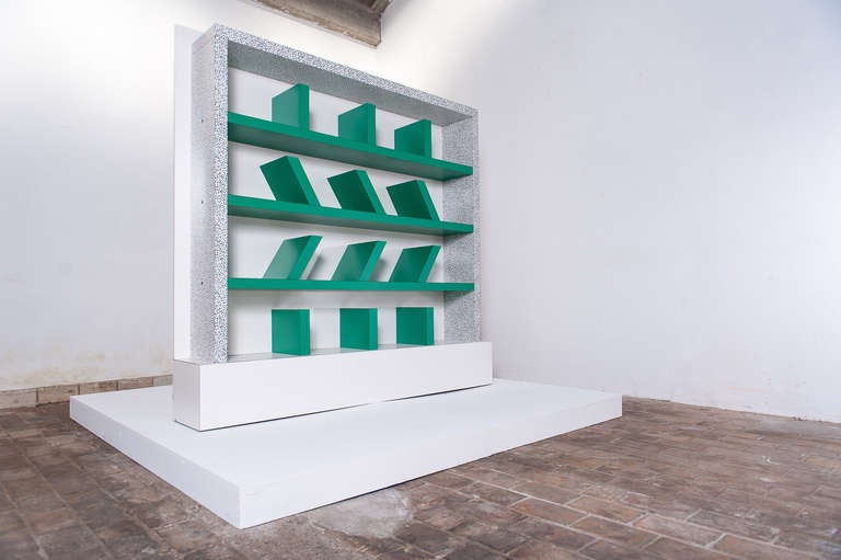 Early edition SURVETTA bookcase by Ettore Sottsass for Memphis,1981 8