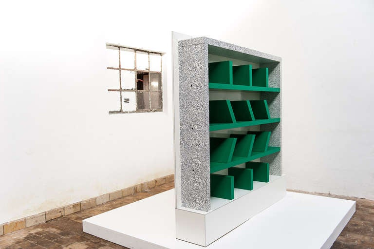 Early edition SURVETTA bookcase by Ettore Sottsass for Memphis,1981 3
