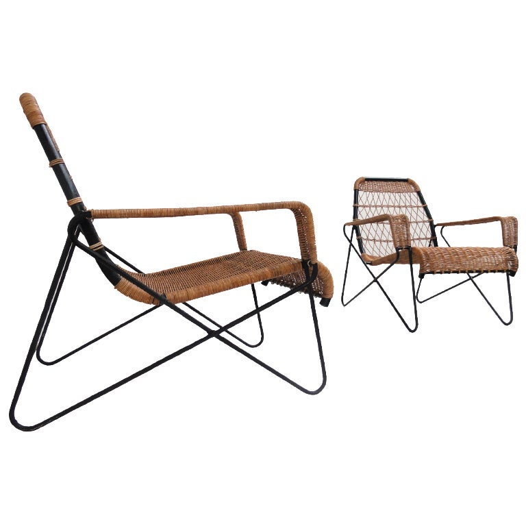 Raoul guys lounge chairs for Antony university building Paris at 1stdibs