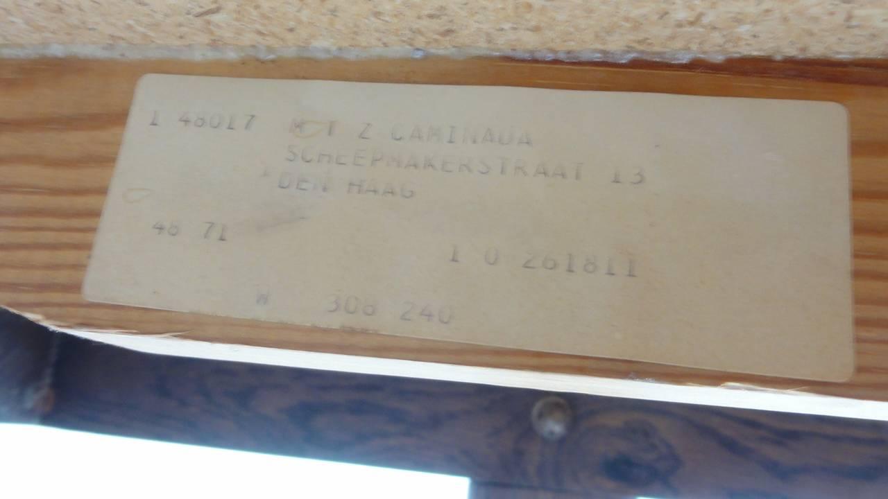 Custom Oak frame Belarti Ceramic coffee table 1970's 10