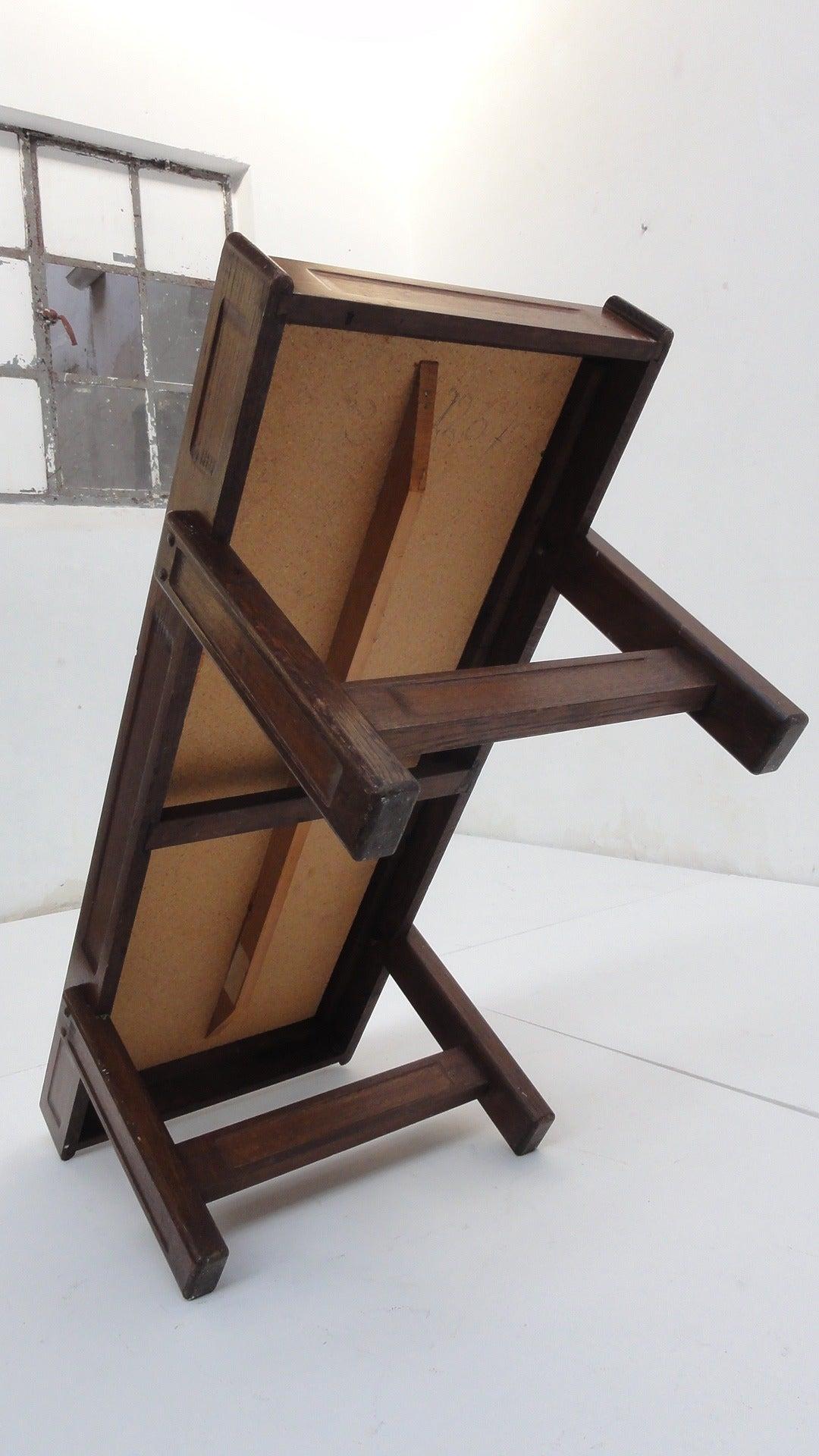 Custom Oak frame Belarti Ceramic coffee table 1970's 8