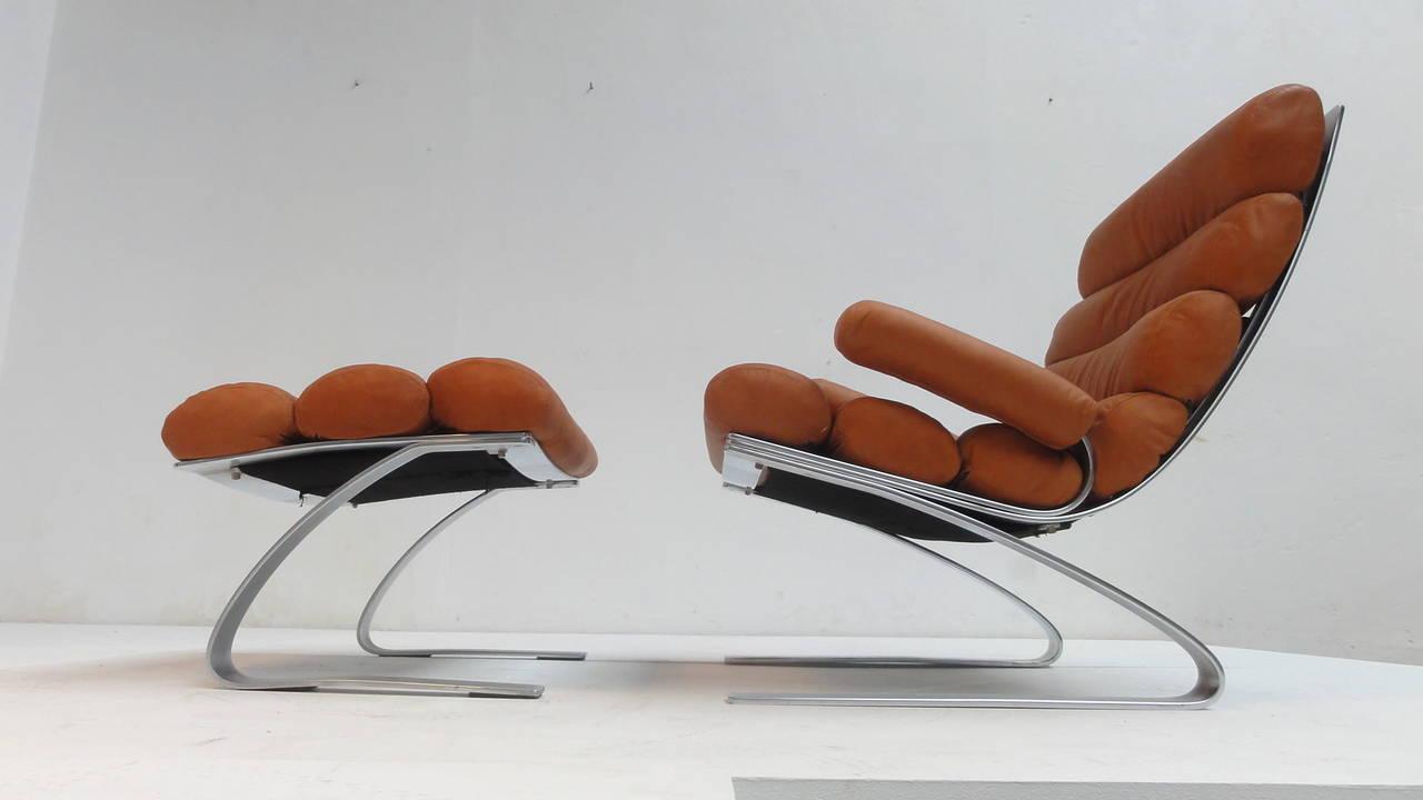 first edition 39 sinus 39 lounge chair by reinhold adolf and hans j rgen schr pfer at 1stdibs. Black Bedroom Furniture Sets. Home Design Ideas