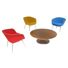 Set of 3 rare model easy chairs by Pierre Paulin for Artifort
