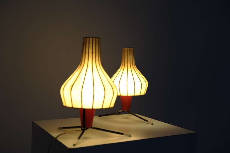 Pair of Swiss 1950's table lamps by BAG TURGI Switzerland In Fair Condition For Sale In bergen op zoom, NL