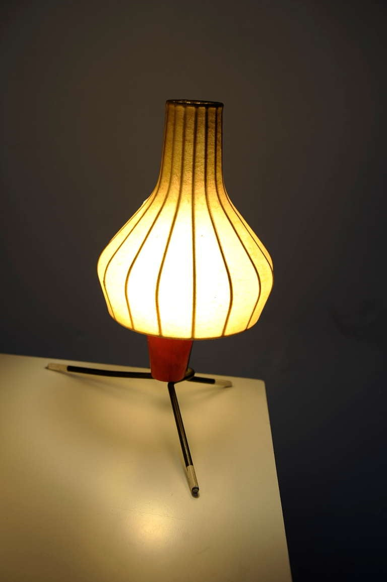 Mid-20th Century Pair of Swiss 1950's table lamps by BAG TURGI Switzerland For Sale