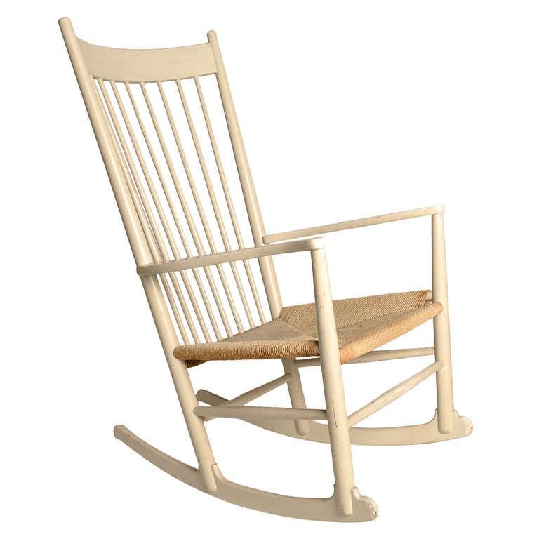 Hans Wegner J16 Rocking Chair for FDB Mobler Denmark dated 1964 at 1stdibs