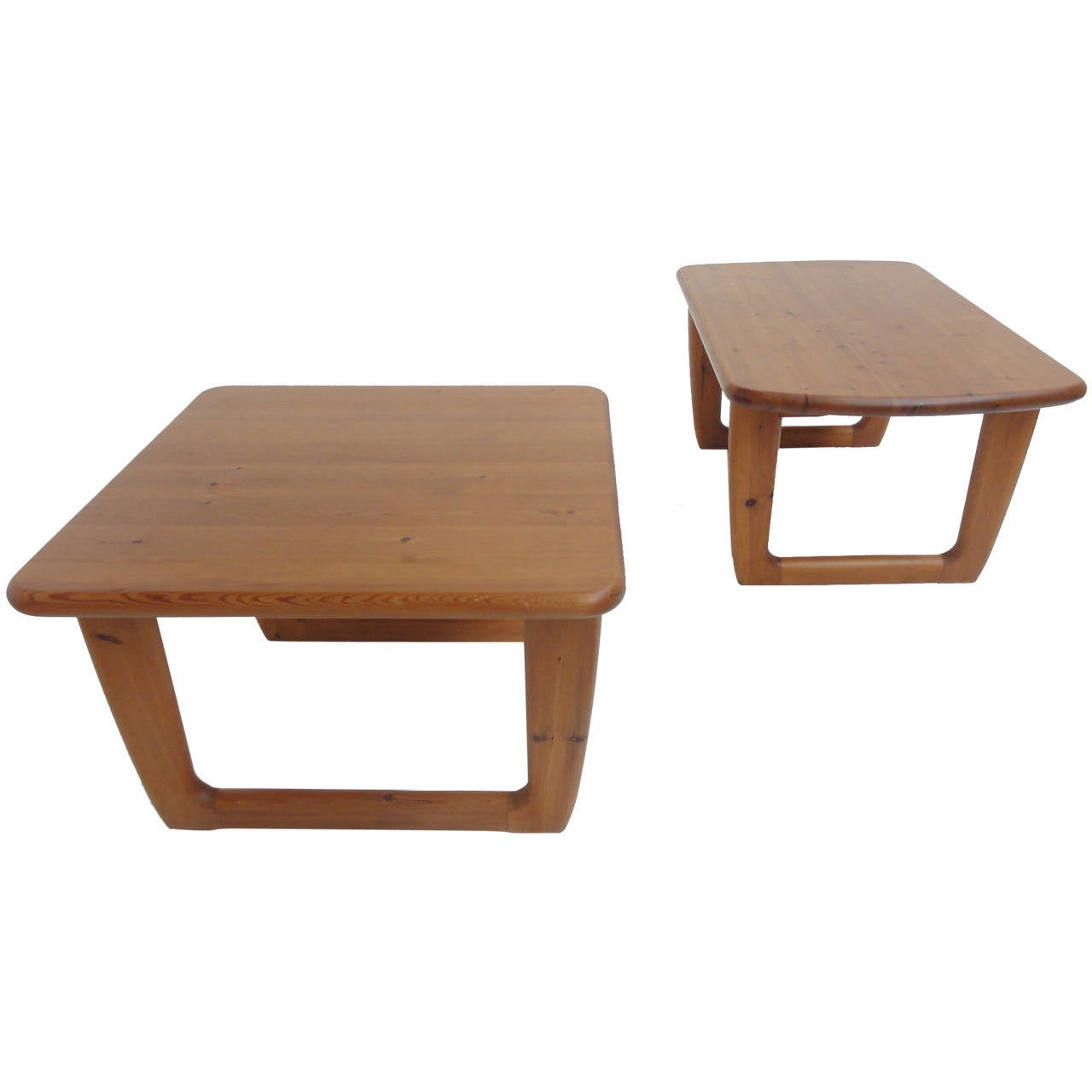 Solid Pinewood Coffee Tables By Korup Stolefabrik Denmark 1970 S 1