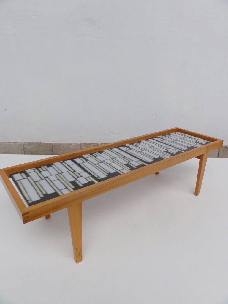 German Mid Century Ceramic Tile Coffee Table At 1stdibs