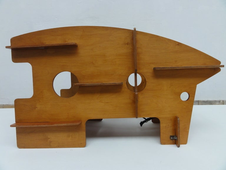 Dutch Plywood Childrens Multi Use Object Rocker High Chair