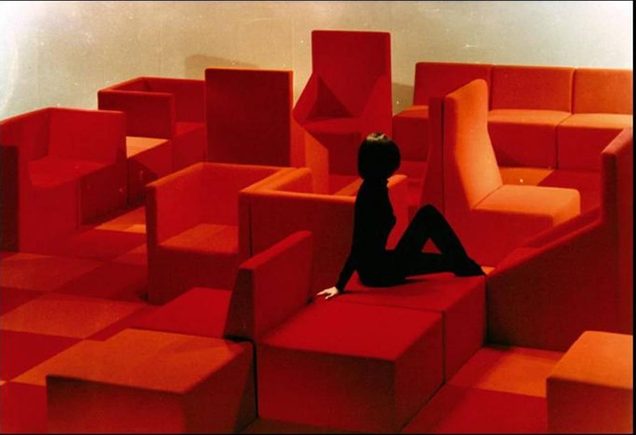 Verner panton interior design - Rare Verner Panton Seating Landscape Produced By Alfred Kill 1965 3