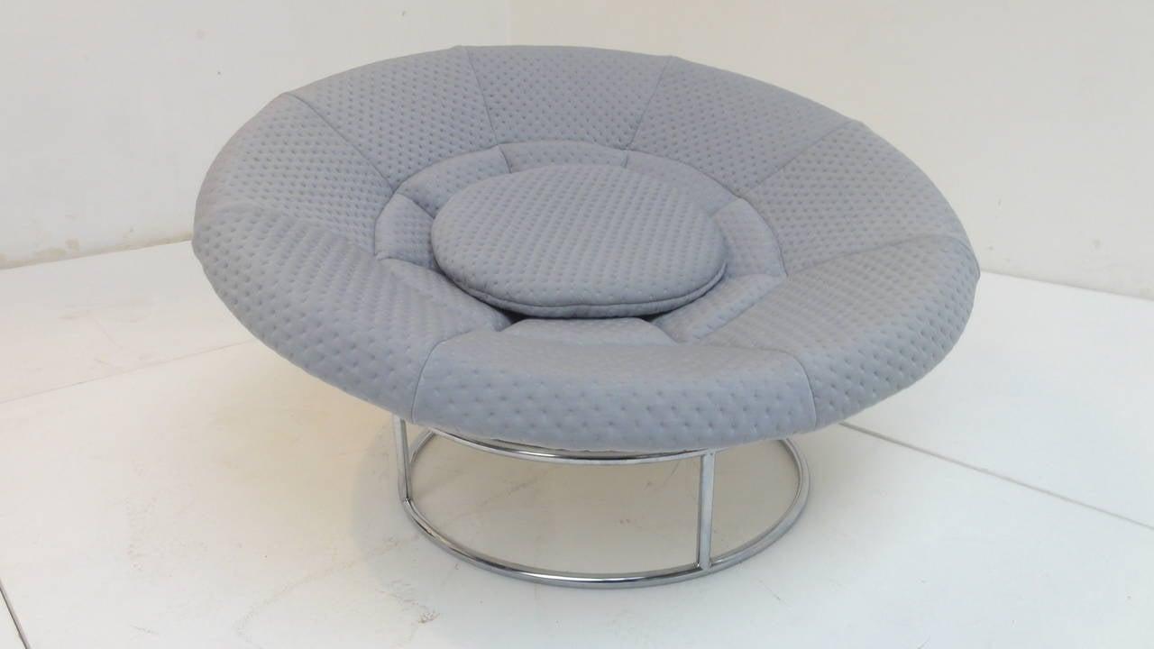 Fiberglass 1970s 'Bird's Nest' Verner Panton Style Lounge Chair For Sale