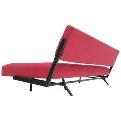 Minimal Dutch Design 1950s Sleeping Sofa in the Style of Martin Visser