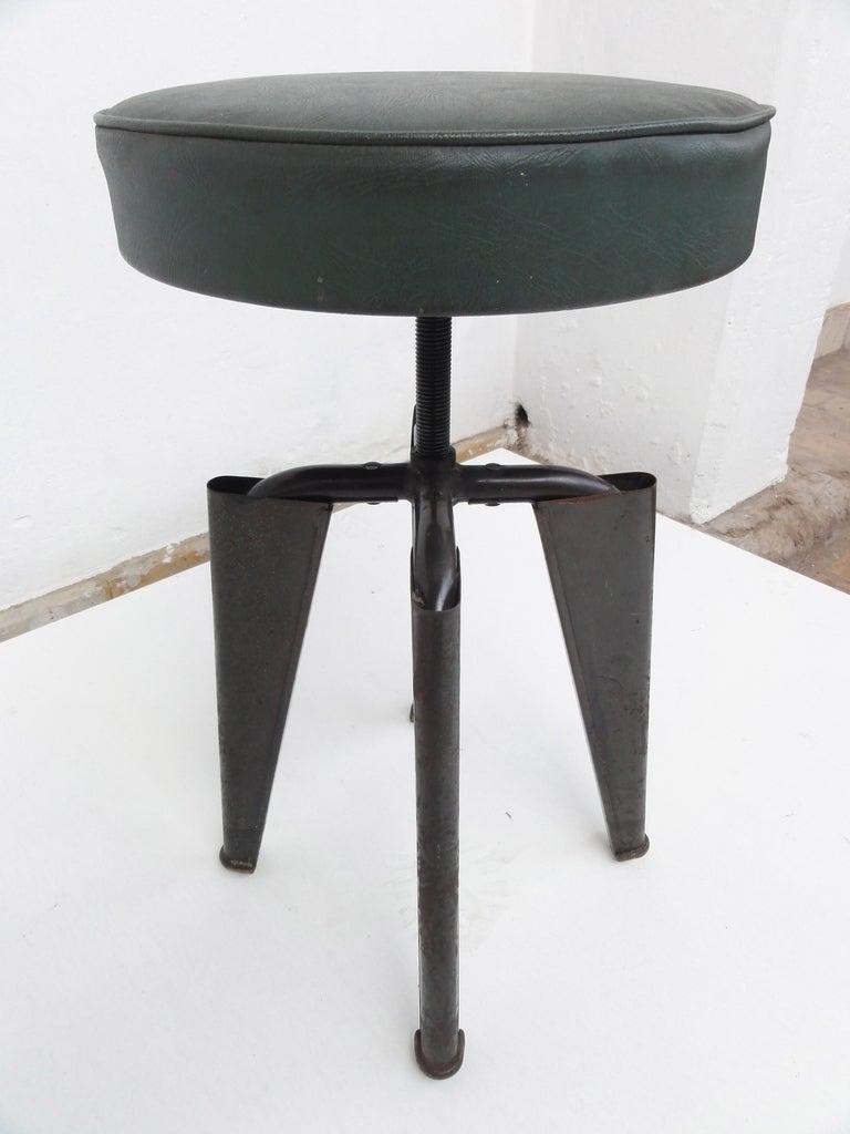Jules Leleu Adjustable Height Stool Circa 1945 At 1stdibs