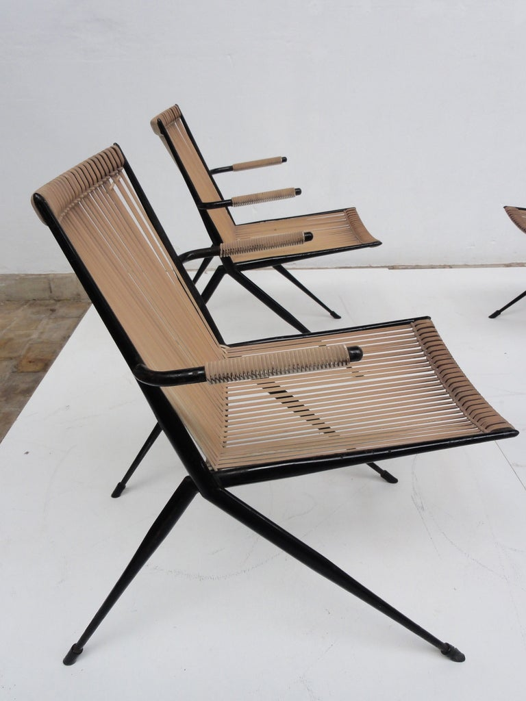 French 50 S Plastic Corded Outdoor Easy Chairs At 1stdibs