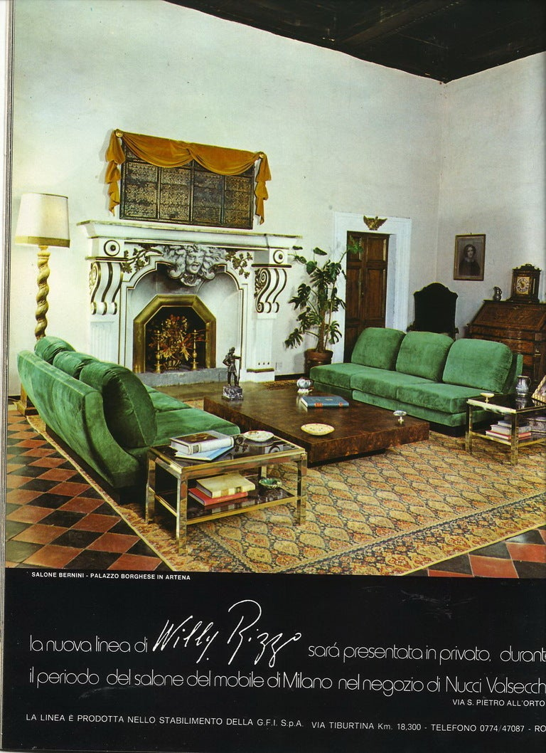 Selection of Willy Rizzo sofas available we can restorechoose your