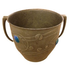 Archibald Knox Champagne Bucket with Ruskin Jewels, Liberty & Co., Published