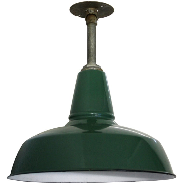 Olivet green 1 piece vintage american industrial for American classic lighting