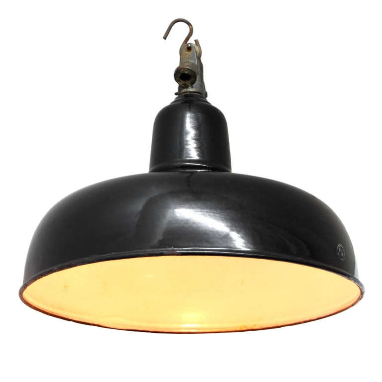 French Vintage Industrial Pendant (1x) At 1stdibs