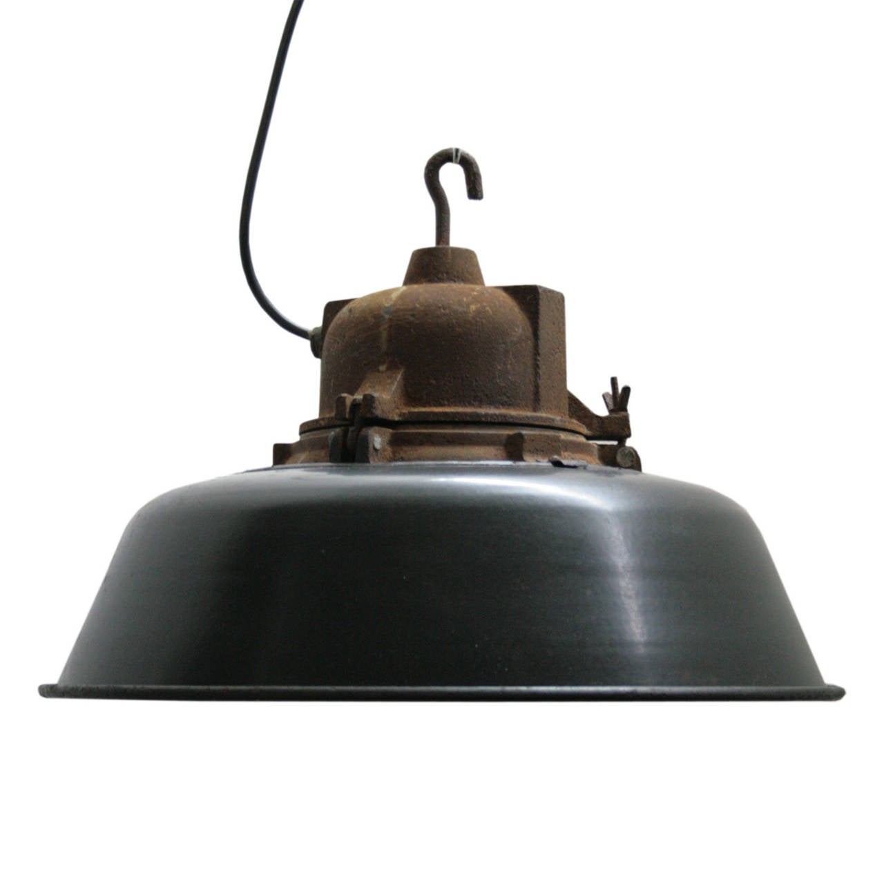 Lille Pair Of French Industrial Pendants At 1stdibs