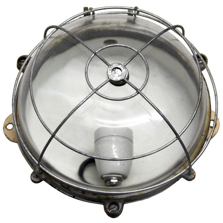 French Industrial Wall Lights : Galan vintage French industrial wall / ceiling lamp (1x) at 1stdibs