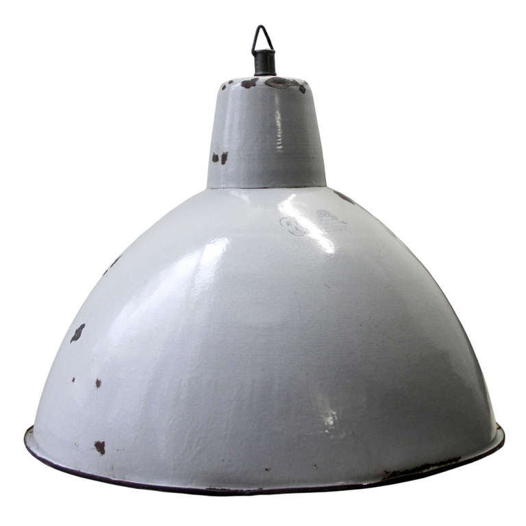 Extra Large Grey Industrial Pendant At