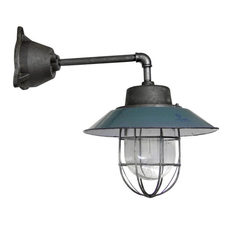 Petrol Enamel Industrial Lamp (14x) At