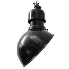Biluky S (1 piece) | Rare Asymmetrical Black Industrial pendant