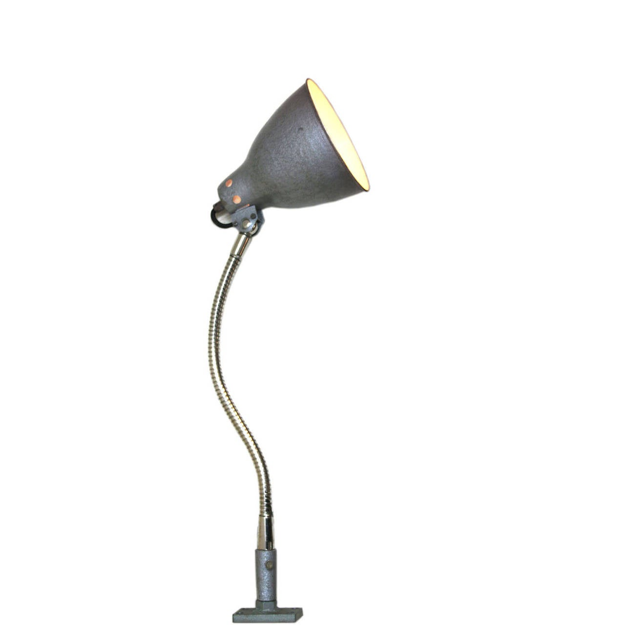 Wall Desk Lighting : Bramsj bureau (3 in stock) Industrial wall / desk light at 1stdibs