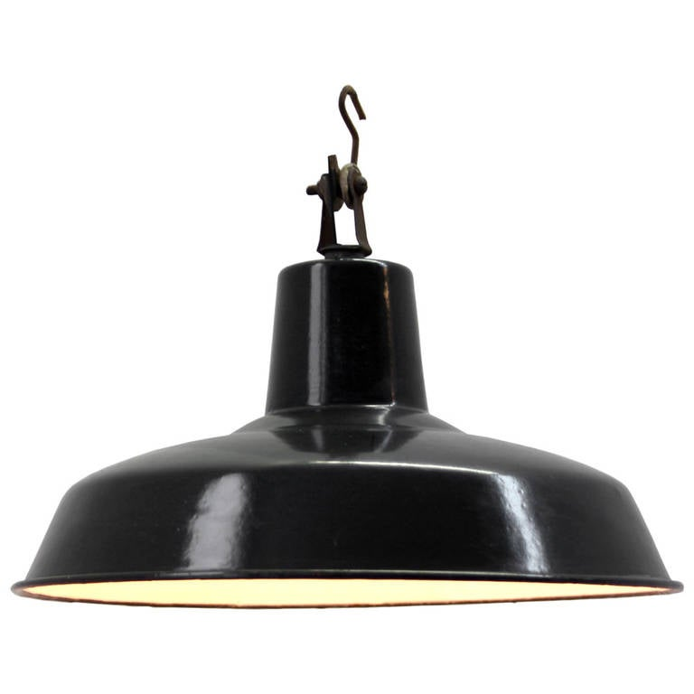 Alloue French Vintage Industrial Pendant, One Available At
