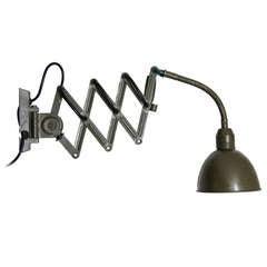 Vintage Green Industrial Wall Scissor Light (1x)
