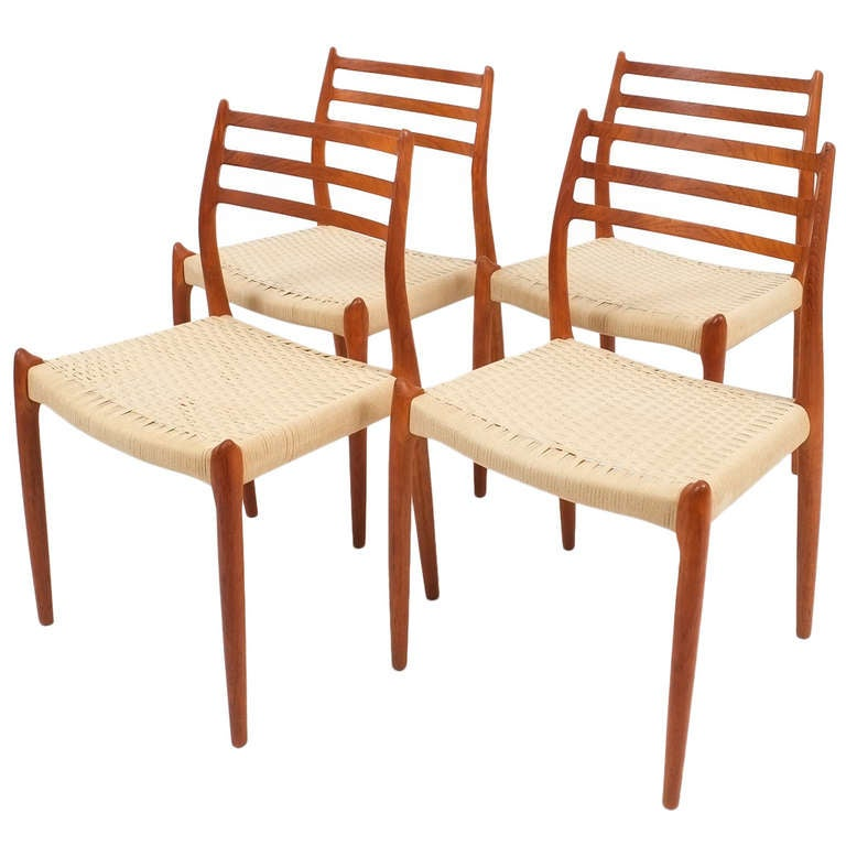 Set Of Four Niels Otto Moller Dining Chairs 1