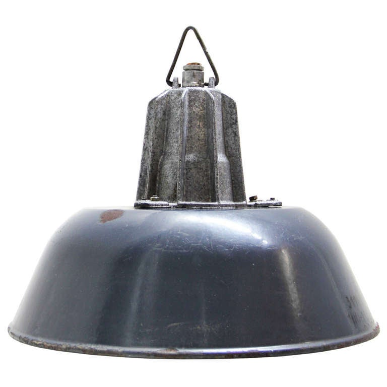 this dolce dark blue 2 in stock vintage industrial pendant is no