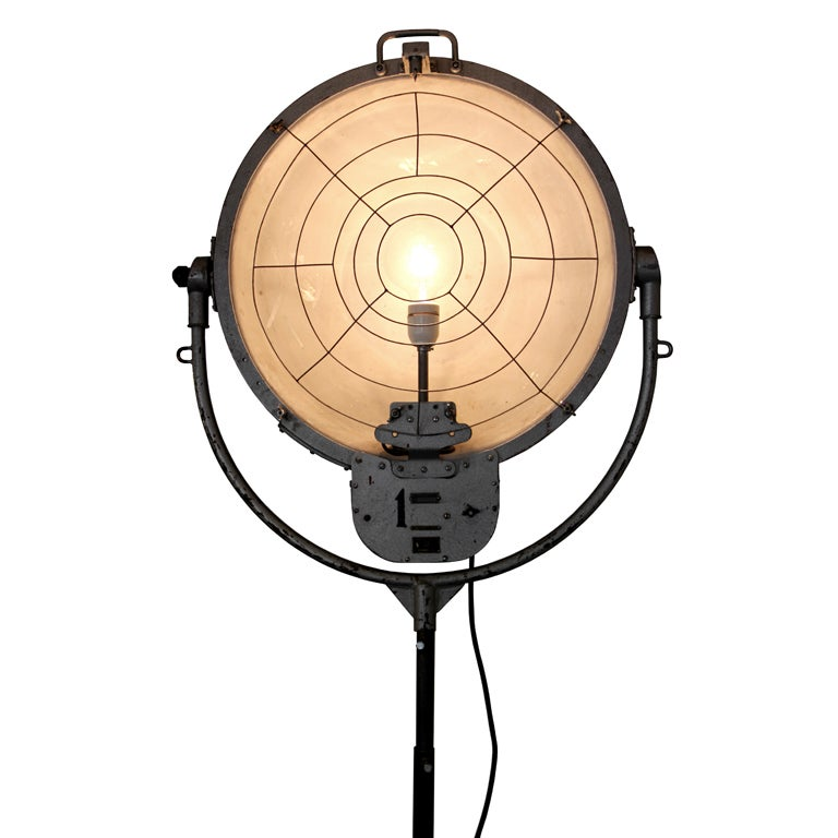 Statny (2 pieces) | Very rare old Russian film studio lamp 1
