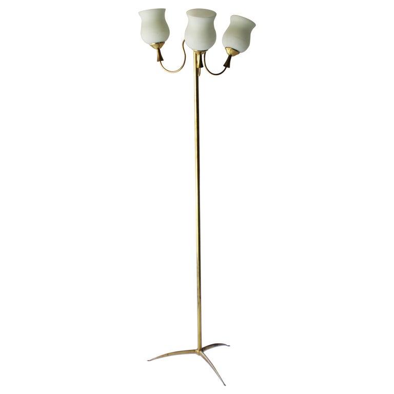 Elegant Italian Floor Lamp by Arredoluce For Sale