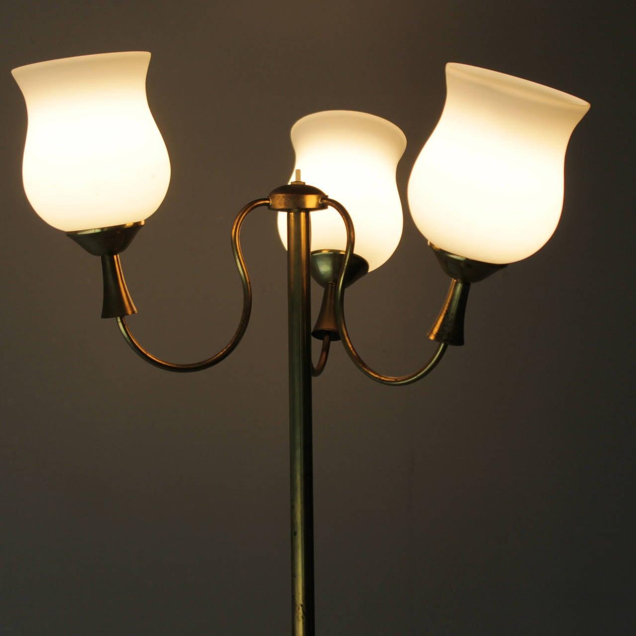 Elegant Italian Floor Lamp by Arredoluce For Sale 3