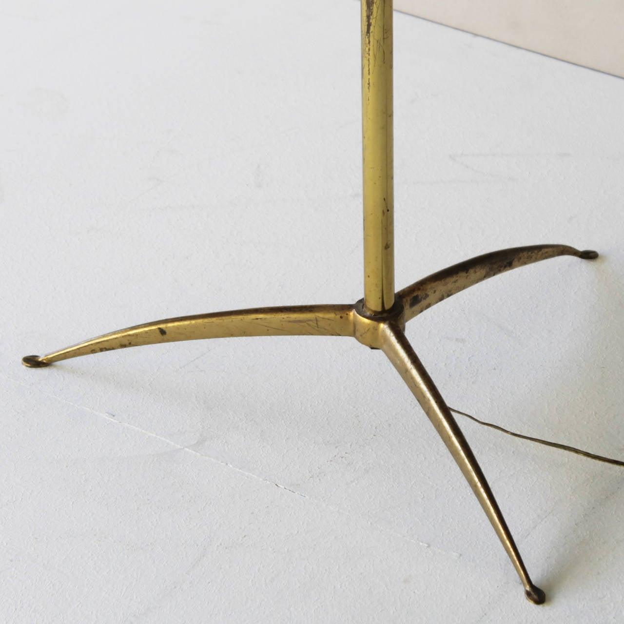 Brass Elegant Italian Floor Lamp by Arredoluce For Sale